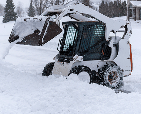 Bobcat clearing snow
